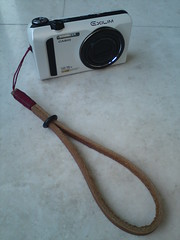 Casio EX-ZR100 (white) + Gordy Strap