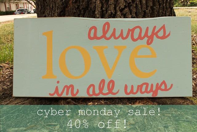 love always - cyber monday sale