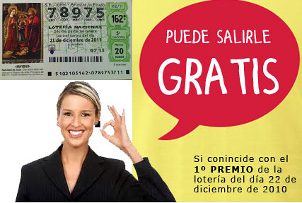 promocion cestas de navidad gratis loteria navideña 2011