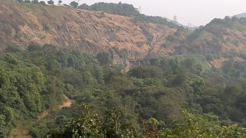 Mumbai Pune railway hidden in green