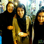 Iranian Friends at Shiraz Market - Iran