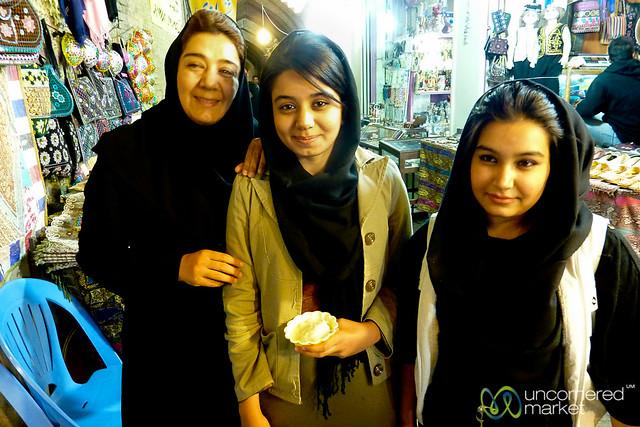 Iranian Friends at Shiraz Market - Iran