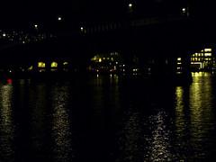 Drammen bridge at night
