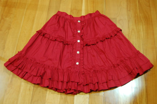 Lolita Closet Count! Skirts: Red - Dear Celine Red Skirt - 60cm Version