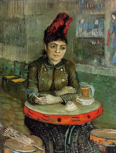Vincent van Gogh - In the Cafe, Agostina Segatori in Le Tambourin [1887] by Gandalf's Gallery