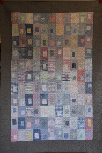 Quilt made from recycled shirting fabric samples!!