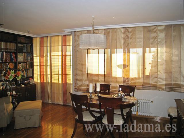 Decoraci n para salones cl sicos cortinas con dobles - Modelos de estores para salon ...