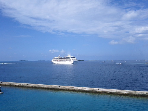 Cruise ship in Maldives