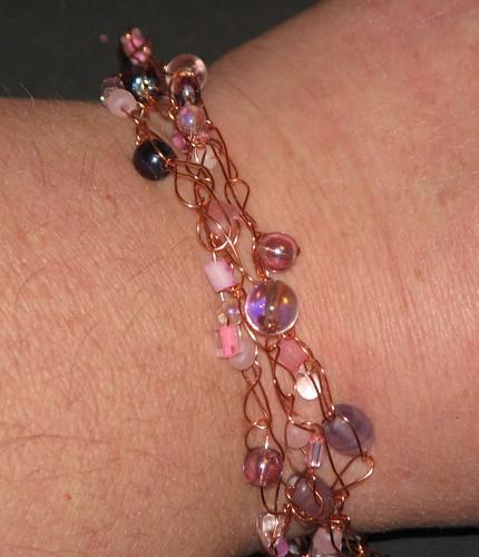Crochet Wire Bracelet 015
