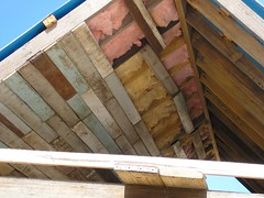 work continues on dam house roof lining - 11