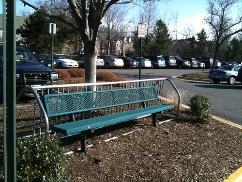 Costco: Bike Rail Retooled as Bench?