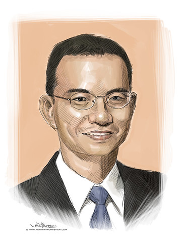 digital portrait of Mr Lai
