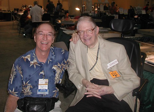 Jeff Shevlin and Dick Johnson at ANA Boston convention