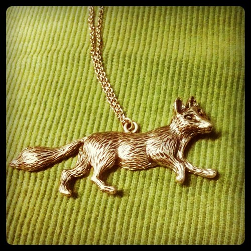 My lovely new fox necklace