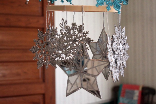 Glittered Snowflake Mobile