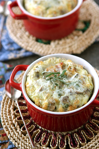 Make-Ahead-Baked-Eggs-with-Bacon-Mushrooms-&-Sage-Recipe-Cookin-Canuck