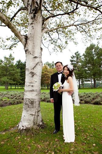 Altra foto degli sposi nel girono del matrimonio