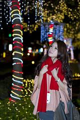 [フリー画像素材] 人物, 女性 - アジア, 台湾人, イルミネーション ID:201112232000