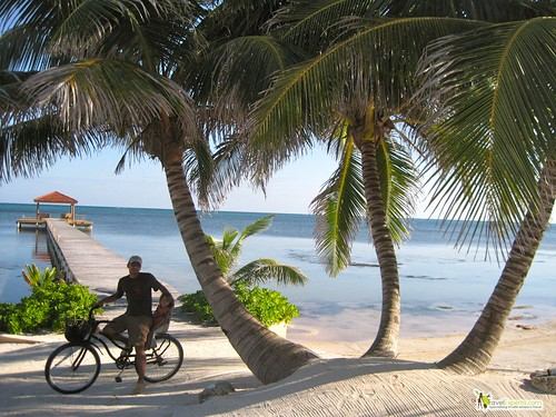 Quick Travel Guide to Belize - biking ambergris caye in belize