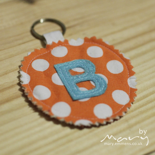 Personalised key ring - B