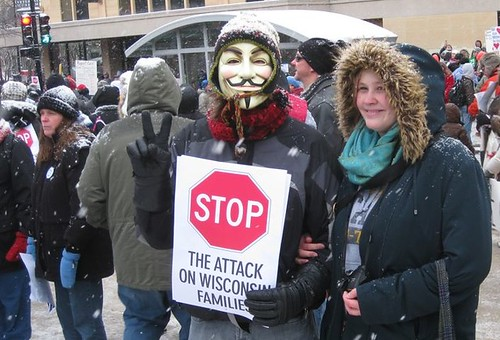 stop the attack on Wisconsin's families