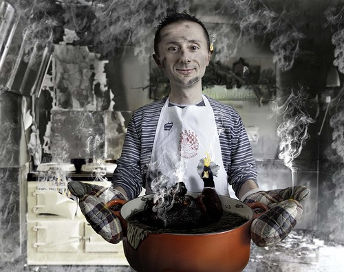 [フリー画像素材] 人物, 男性, フォトレタッチ, 料理 ID:201112280600