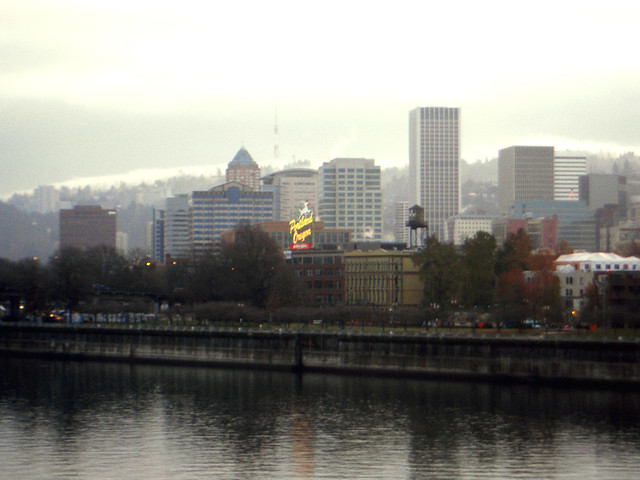 Downtown Portland Sign