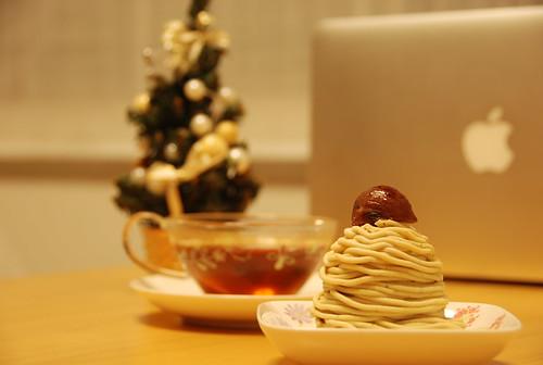クリスマスのモンブラン