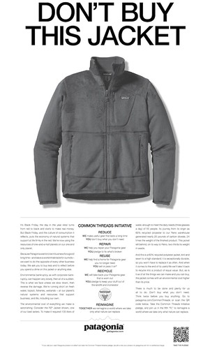 Patagonia 2011, Don't buy this jacket