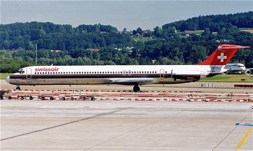 HB-INX MD-80 SwissAir ZUR