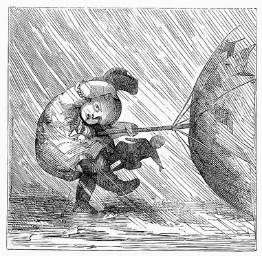 Overtaken by Wind on a Rainy Day 1882