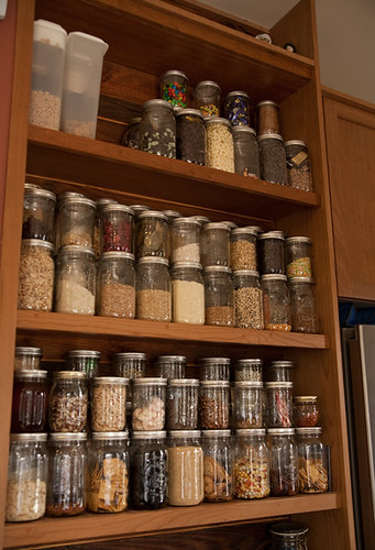 storage in a small kitchen jars and open shelving pantry storage at a glance 8377