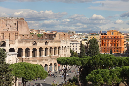 View to the Colosseum by feradz