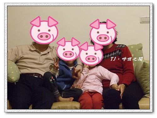一家都是豬