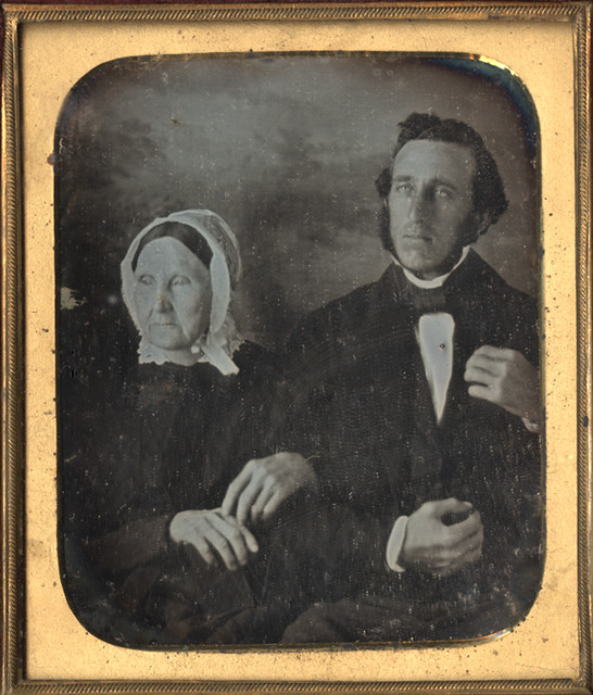 Elderly Woman and Adult Son - Sixth Plate Daguerreotype. This mother and son ...