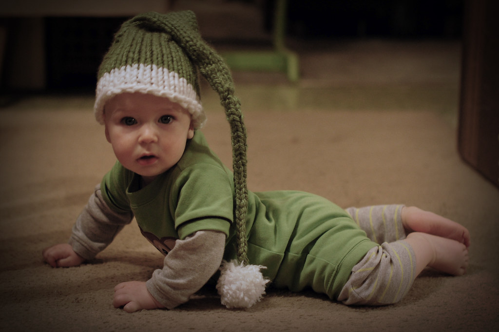 isaac in green hat