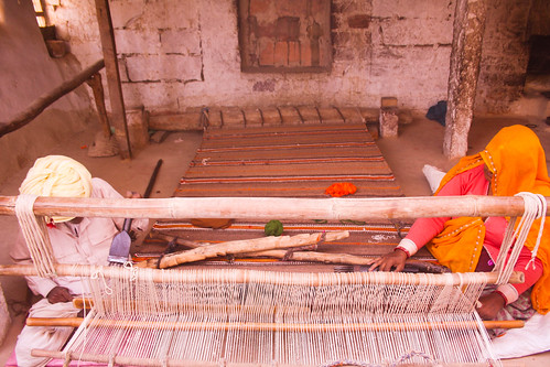 Carpet weaving by the Bishnoi community