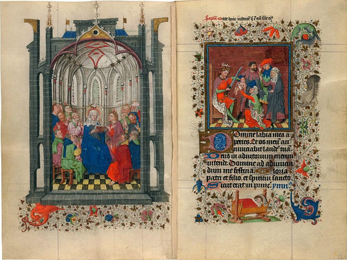 012-The Hours of Catherine of Cleves- alrededor de 1440 - MS M.917 pp 52-53-© The Morgan Library & Museum