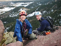 Clare & Jeff Ready to Rappel Third Flatiron