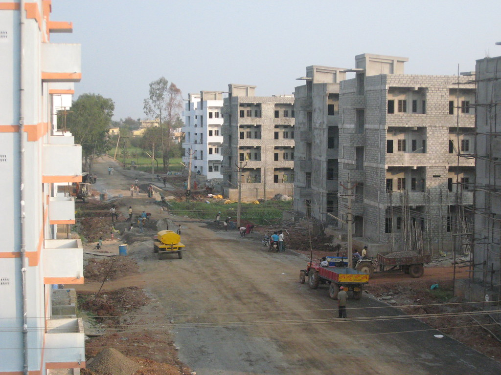 Public housing under construction