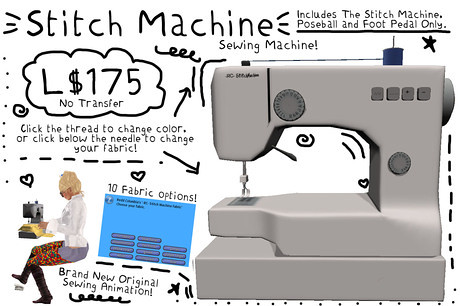-RC- Stitch Machine, 175 lindens by Cherokeeh Asteria