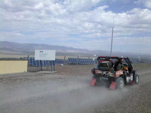 Rally Dakar y la planta fotovoltaica de San Juan
