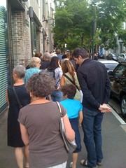 Queue outside White Rabbit Gallery