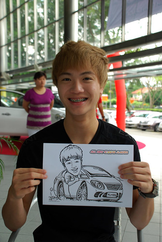 Caricature live sketching for Tan Chong Nissan Almera Soft Launch - Day 1 - 1