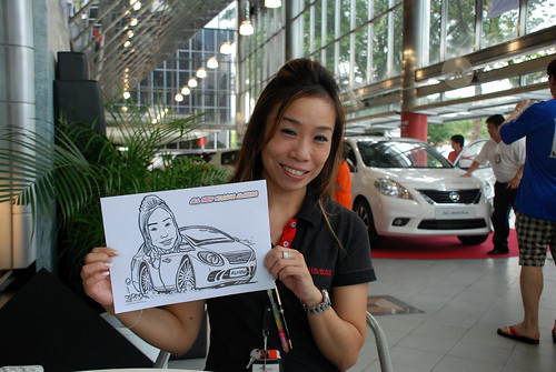 Caricature live sketching for Tan Chong Nissan Almera Soft Launch - Day 1 - 46