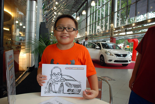 Caricature live sketching for Tan Chong Nissan Almera Soft Launch - Day 1 - 48