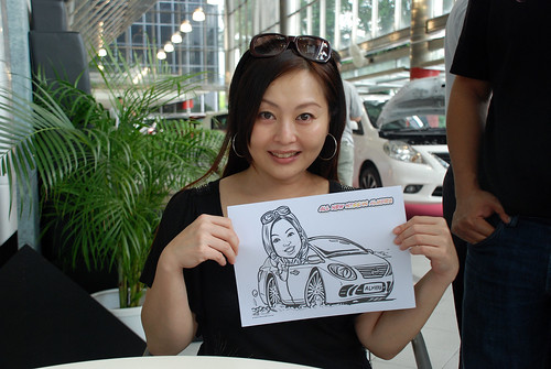 Caricature live sketching for Tan Chong Nissan Almera Soft Launch - Day 1 - 41