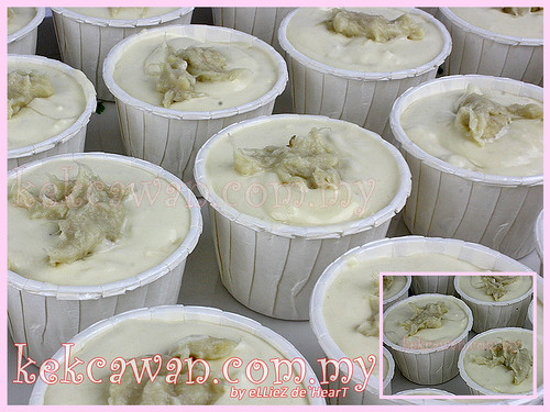 Durian Cheese Cupcakes