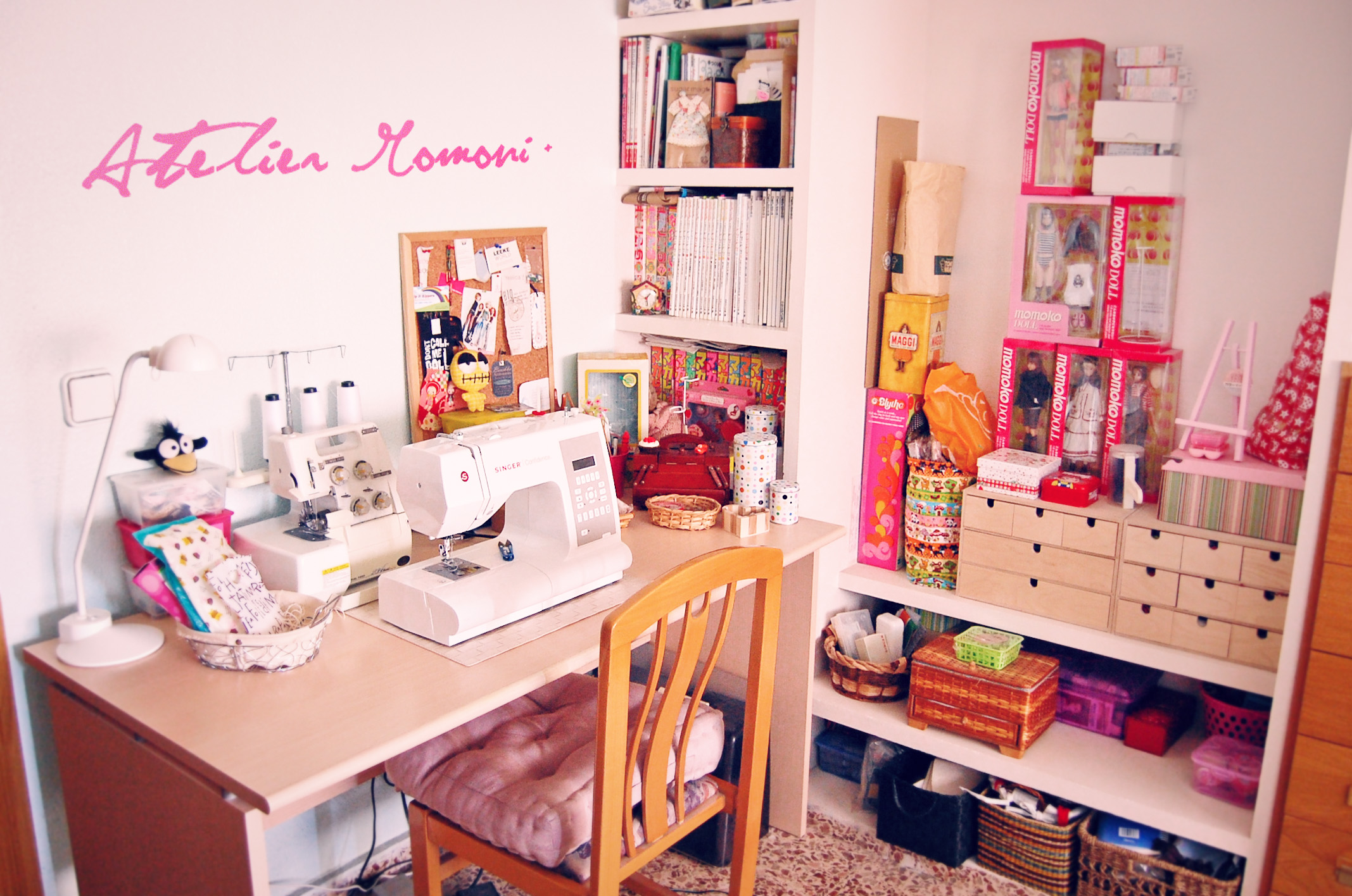 welcome to the atelier welcome to my little sewing corner flickr photo sharing. Black Bedroom Furniture Sets. Home Design Ideas
