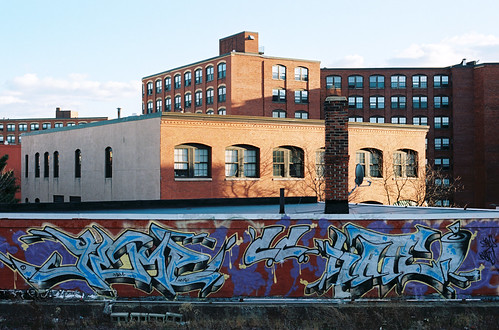 temp roof film boston square ma 50mm graffiti nikon downtown control kodak top 14 central tracks rail lynn chrome crew hate commuter 100 graff elevated krylon ektar fm2n rusto